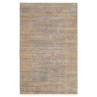Safavieh Valencia Lines 6-Foot x 9-Foot Area Rug in Grey/Gold