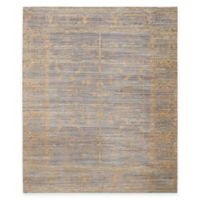 Safavieh Valencia Lines 9-Foot x 12-Foot Area Rug in Grey/Gold