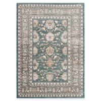 Safavieh Valencia Double Border 5-Foot x 8-Foot Area Rug in Green/Purple
