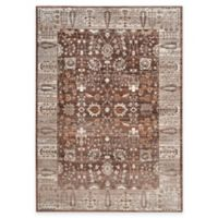 Safavieh Valencia Floral Border 4-Foot x 6-Foot Area Rug in Brown/Beige