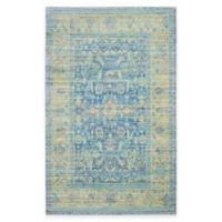 Safavieh Valencia Bronn 5-Foot x 8-Foot Area Rug in Blue/Multi