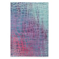 Safavieh Valencia Snake 4-Foot x 6-Foot Area Rug in Blue/Fuchsia