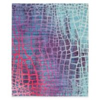 Safavieh Valencia Snake 9-Foot x 12-Foot Area Rug in Blue/Fuchsia