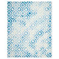 Safavieh Dip Dye Mod Diamond 8-Foot x 10-Foot Area Rug in Ivory/Blue