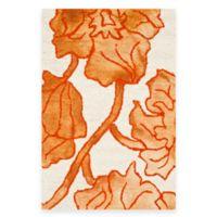 Safavieh Dip Dye Floral 3-Foot x 5-Foot Area Rug in Ivory/Orange