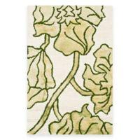 Safavieh Dip Dye Floral 3-Foot x 5-Foot Area Rug in Ivory/Green