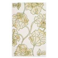 Safavieh Dip Dye Floral 8-Foot x 10-Foot Area Rug in Ivory/Green