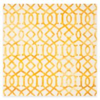Safavieh Dip Dye Entwine 7-Foot Square Area Rug in Ivory/Gold