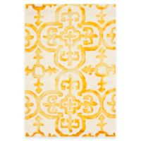 Safavieh Dip Dye Clover 2-Foot x 3-Foot Accent Rug in Ivory/Gold