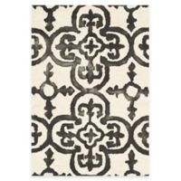 Safavieh Dip Dye Clover 2-Foot x 3-Foot Accent Rug in Ivory/Charcoal