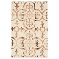 Safavieh Dip Dye Clover 2-Foot x 3-Foot Accent Rug in Ivory/Camel