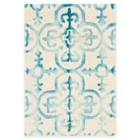 Safavieh Dip Dye Clover 2-Foot x 3-Foot Accent Rug in Ivory/Turquoise