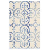 Safavieh Dip Dye Clover 2-Foot x 3-Foot Accent Rug in Ivory/Blue