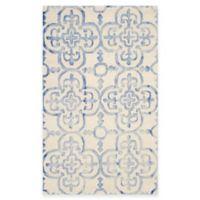 Safavieh Dip Dye Clover 3-Foot x 5-Foot Area Rug in Ivory/Blue