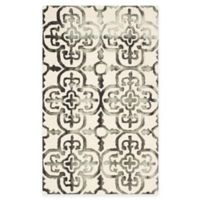 Safavieh Dip Dye Clover 4-Foot x 6-Foot Area Rug in Ivory/Charcoal