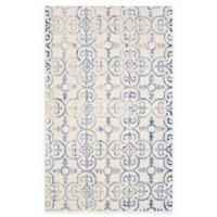 Safavieh Dip Dye Clover 6-Foot x 9-Foot Area Rug in Ivory/Blue