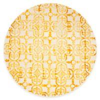 Safavieh Dip Dye Clover 7-Foot Round Area Rug in Ivory/Gold