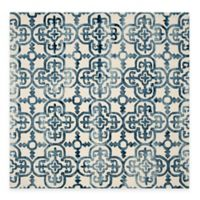 Safavieh Dip Dye Clover 7-Foot Square Area Rug in Ivory/Navy