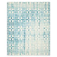 Safavieh Dip Dye Clover 8-Foot x 10-Foot Area Rug in Ivory/Turquoise