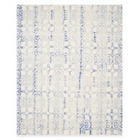 Safavieh Dip Dye Clover8-Foot x 10-Foot Area Rug in Ivory/Blue