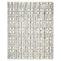 Safavieh Dip Dye Clover 8-Foot x 10-Foot Area Rug in Ivory/Charcoal