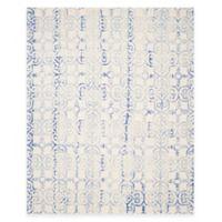 Safavieh Dip Dye Clover 9-Foot x 12-Foot Area Rug in Ivory/Blue