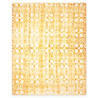 Safavieh Dip Dye Clover 9-Foot x 12-Foot Area Rug in Ivory/Gold