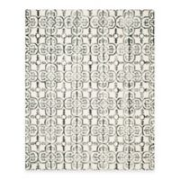 Safavieh Dip Dye Clover 9-Foot x 12-Foot Area Rug in Ivory/Charcoal