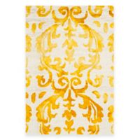Safavieh Dip Dye Damask Stripe 2-Foot x 3-Foot Accent Rug in Ivory/Gold