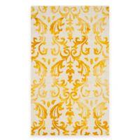 Safavieh Dip Dye Damask Stripe 4-Foot x 6-Foot Area Rug in Ivory/Gold