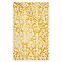Safavieh Dip Dye Damask Stripe 5-Foot x 8-Foot Area Rug in Ivory/Gold