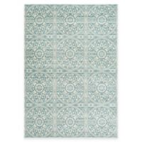 Safavieh Valencia Medallion 4-Foot x 6-Foot Area Rug in Green/Ivory