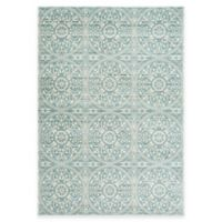 Safavieh Valencia Medallion 5-Foot x 8-Foot Area Rug in Green/Ivory