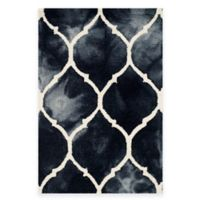 Safavieh Dip Dye Lattice 2-Foot x 3-Foot Accent Rug in Graphite/Ivory