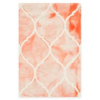 Safavieh Dip Dye Lattice 2-Foot x 3-Foot Accent Rug in Orange/Ivory
