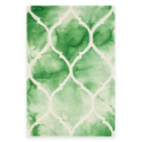 Safavieh Dip Dye Lattice 2-Foot x 3-Foot Accent Rug in Green/Ivory