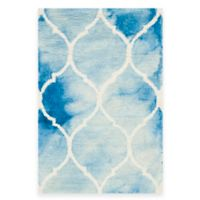Safavieh Dip Dye Lattice 2-Foot x 3-Foot Accent Rug in Blue/Ivory