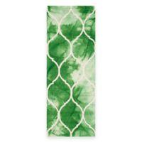 Safavieh Dip Dye Lattice 2-Foot 3-Inch x 6-Foot Runner in Green/Ivory