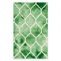 Safavieh Dip Dye Lattice 4-Foot x 6-Foot Rug in Green/Ivory