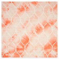 Safavieh Dip Dye Lattice 7-Foot Square Area Rug in Orange/Ivory