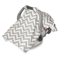 Jolly Jumper® Infant Car Seat Veil in Chevron Grey