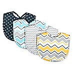 Trend Lab® 4-Pack Zigzag Bouquet Bib Set