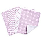 Trend Lab® 4-Pack Orchid Bloom Burp Cloth Set