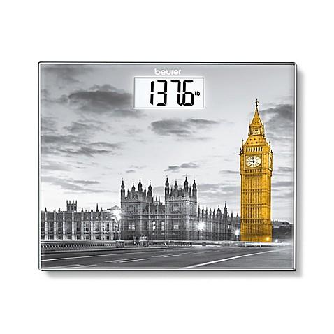beurer london digital glass bathroom scale