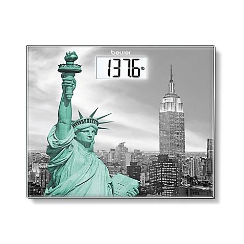 beurer new york digital glass bathroom scale