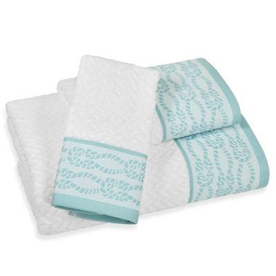 Fair Harbor Hand Towel. Buy Teal Hand Towel from Bed Bath   Beyond