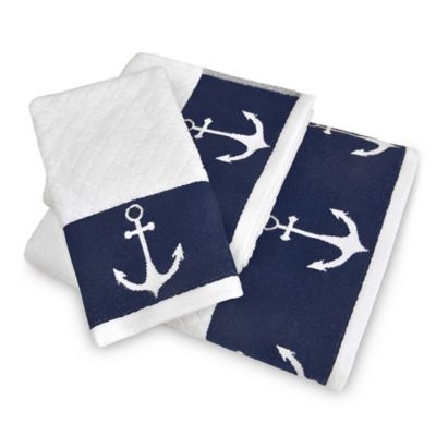 Lamont Home Anchors Away Fingertip Towel