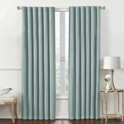 rockwell 63inch rod pocketback tab window curtain panel in - Room Darkening Curtains