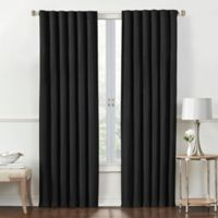 Rockwell 84-Inch Rod Pocket/Back Tab Room-Darkening Window Curtain Panel in Black