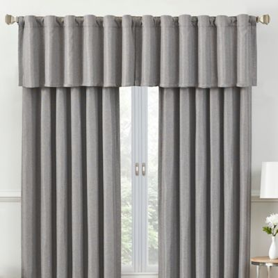 rockwell tailored window valance in grey